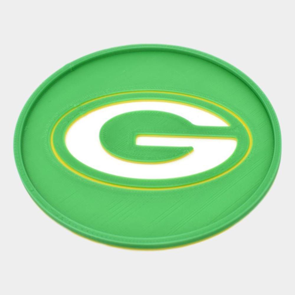 Green Bay Packers Tri Color Coaster 2