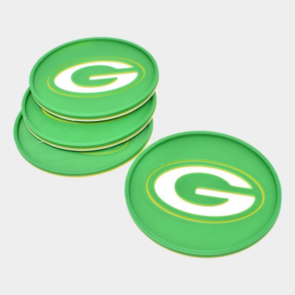 Green Bay Packers Tri Color Coaster