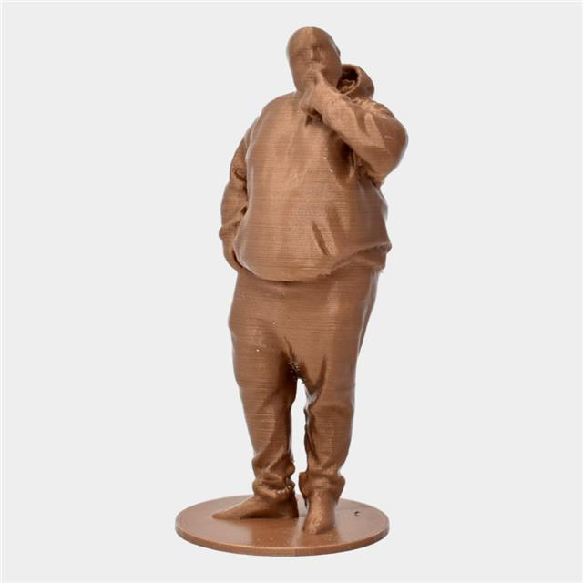 Man standing in pose copper